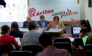 Rueda de prensa ofrecida por los responsables de Cáritas Valencia. E.V.